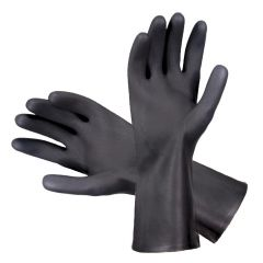 Heavy Duty Black Rubber Gloves Large Janitorial Supplies