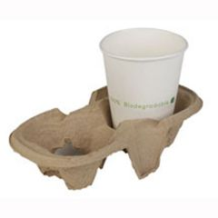 Chinet Take away 2 Cup Carrier Janitorial Supplies