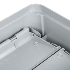 Bin Lid Grey -  for Wall Hugger 90 Litre Janitorial Supplies