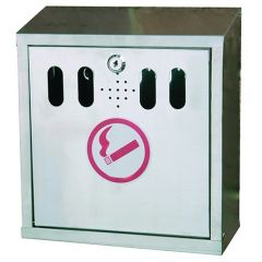 Wallmounted Stainless Steel Ashtray 3 Litr Janitorial Supplies