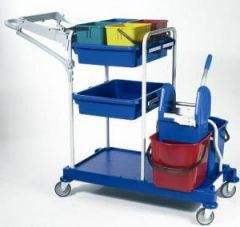 Kit Cart + Double Mopping System Janitorial Supplies