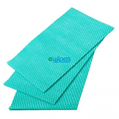 Green Viscose Wipes Janitorial Supplies