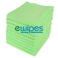Green Microfiber Cloths Janitorial Supplies