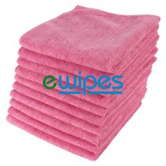 Red Microfiber Cloths Janitorial Supplies