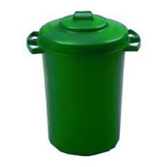 110 Litre Green Dustbin with Lid Janitorial Supplies