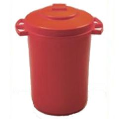 110 Litre Red Dustbin with Lid Janitorial Supplies