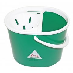 Green 15 litre  Mop Bucket Oval Janitorial Supplies