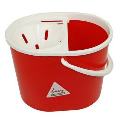 Red 15 litre  Mop Bucket Oval Janitorial Supplies