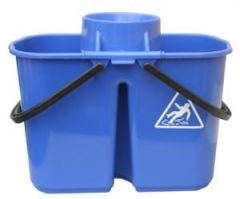 Janilec Twin Mop Bucket 15 litre Blue Janitorial Supplies