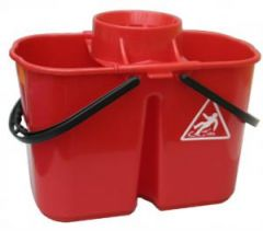 Janilec Twin Mop Bucket 15 litre Red Janitorial Supplies