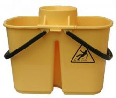 Janilec Twin Mop Bucket 15 litre Yellow Janitorial Supplies
