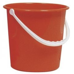 Red 10 Litre  Round Bucket Janitorial Supplies