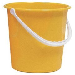 Yellow 10 Litre Round Bucket Janitorial Supplies
