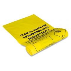 Clinical Waste Bags Medium Duty Yellow Janitorial Supplies