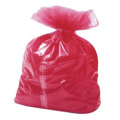 Red Soluble Laundry Bags Janitorial Supplies