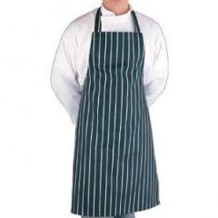 Blue & White Striped Caterers Apron Janitorial Supplies