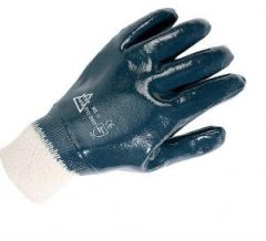 Gloves Fully Coated Nitrile Knitwrist Janitorial Supplies
