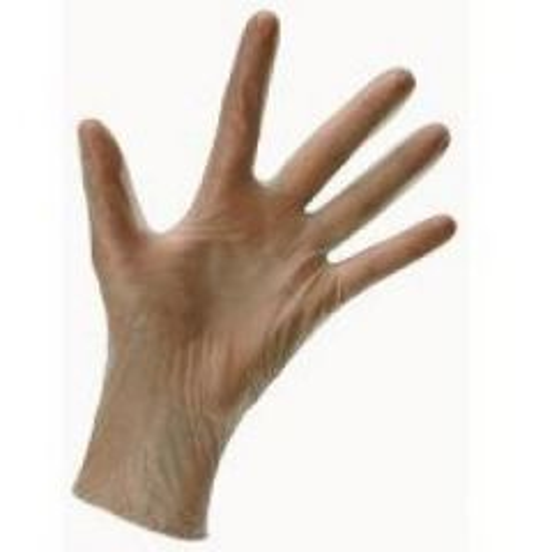 Clear Vinyl Gloves Powdered Medium Janitorial Supplies