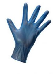 Large Blue Vinyl Gloves Powdered Janitorial Supplies