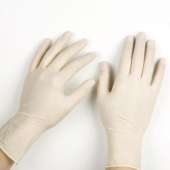 Small  Latex  Natural Exam Gloves Janitorial Supplies