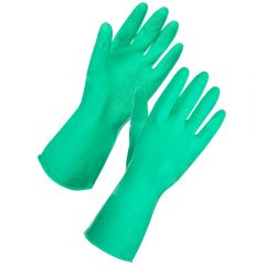 Green Household Gloves Small Janitorial Supplies