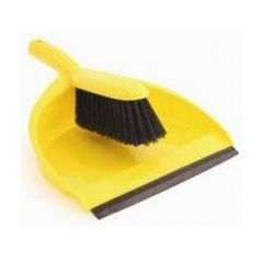 Yellow Dust Pan and Brush Set Janitorial Supplies