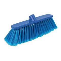 12 Inch Blue Deluxe Stiff Broom Head Janitorial Supplies