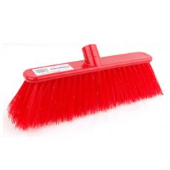 12 Inch Red Deluxe Stiff Broom Head Janitorial Supplies