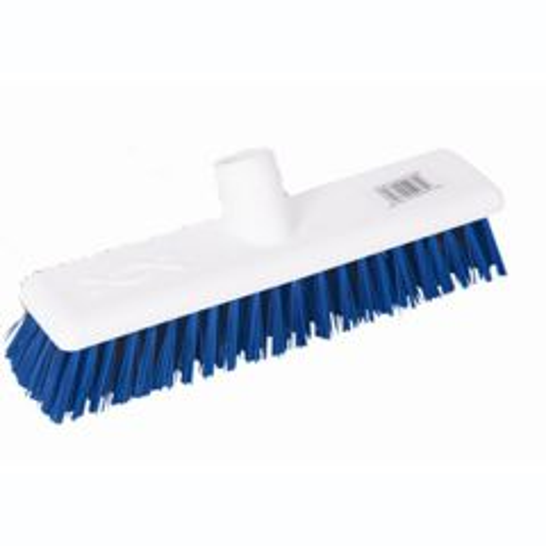 12 Inch Blue Medium Hygiene Broom Head Janitorial Supplies