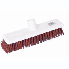 12 Inch Red Medium Hygiene Broom Head Janitorial Supplies