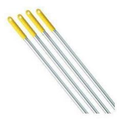 Yellow Aluminium Broom Handle 1360mm Janitorial Supplies