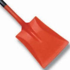 Plastic Shovel Orange Pan  Black Handle Janitorial Supplies