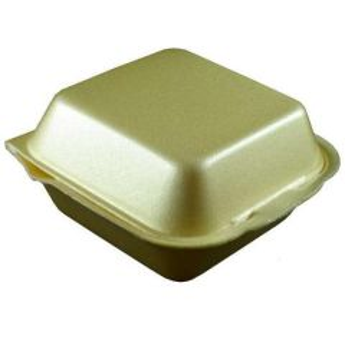 Polystyrene Hinged Large Burger Box Janitorial Supplies