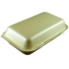 Polystyrene Hinged Fish and Chips Food Box