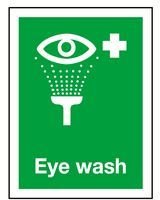 Sign/Rigid  Eye Wash 200x150mm Janitorial Supplies