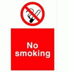 No Smoking 200x150mm Sign Self Adhesive Janitorial Supplies