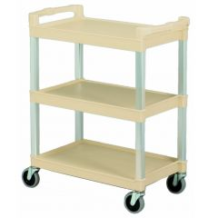 Beige Service Catering Cart Janitorial Supplies
