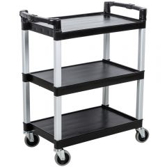 Black Service Catering Cart Janitorial Supplies
