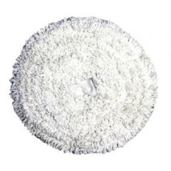 White 17 Inch Carpet Bonnet Mop Janitorial Supplies