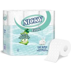 Nicky Elite White 3 Ply Toilet Rolls Janitorial Supplies