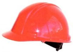 Red Safety Helmet with Terylene Harness Janitorial Supplies
