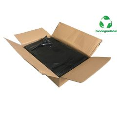 Black Biodegradable Refuse Bags Medium Duty Janitorial Supplies