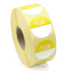 Tuesday Day Dots 1000 Labels Janitorial Supplies