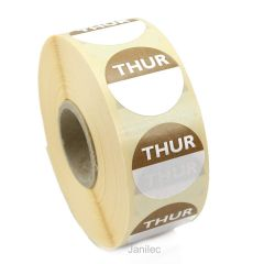 Thursday Day Dots 1000  Labels Janitorial Supplies