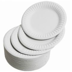 23cm Disposable Paper Plates Janitorial Supplies