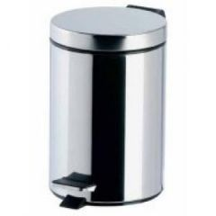 3 Litre Steel Pedal Bin Silver Janitorial Supplies