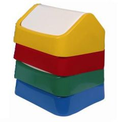 Yellow Coloured Indoor Swing Top Lid Janitorial Supplies