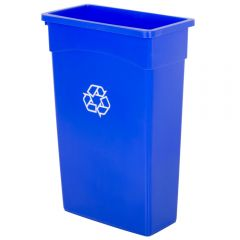 Wall Hugger Bin 90 Litre Blue Janitorial Supplies