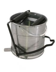 10 Litre Galvanised Bucket with Roller Janitorial Supplies