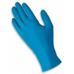 Medium Blue Nitrile Powder Free Gloves Janitorial Supplies